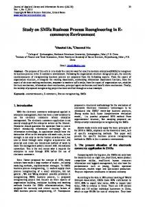 Study on SMEs Business Process Reengineering in E- commerce Environment