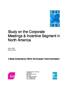 Study on the Corporate Meetings & Incentive Segment in North America