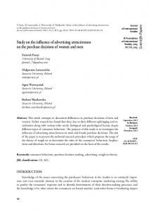 Study on the influence of advertising attractiveness on the purchase decisions of women and men