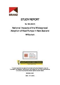 STUDY REPORT. No. 169 (2007) NR Buckett