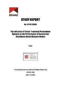 STUDY REPORT. No. SR 161 (2006)