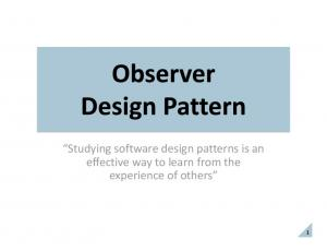 Studying software design patterns is an effective way to learn from the experience of others