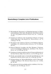 Stueckelberg s Complete List of Publications