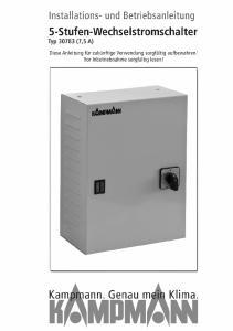 Stufen-Wechselstromschalter Typ (7,5A) Installations- und Betriebsanleitung
