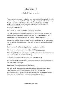 Stummes -h. Kartei & Klammerkarten