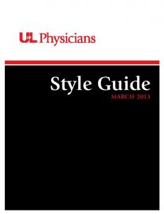 Style Guide MARCH 2013