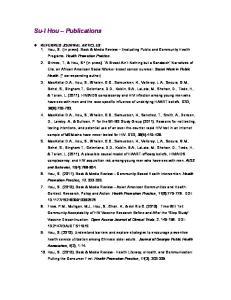 Su-I Hou Publications