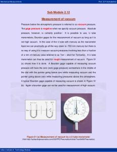 Sub Module Measurement of vacuum