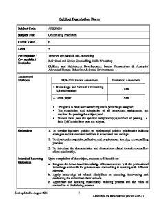 Subject Description Form