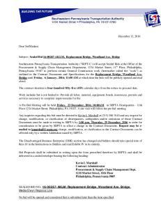 Subject: Sealed Bid AKLM, Replacement Bridge, Woodland Ave. Bridge