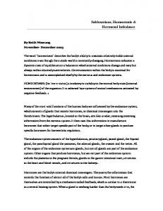 Subluxations, Homeostasis & Hormonal Imbalance