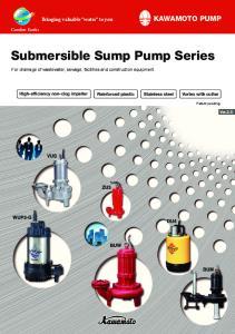 Submersible Sump Pump Series