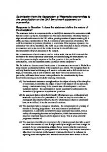Submission from the Association of Heterodox economists to the consultation on the QAA benchmark statement on economics