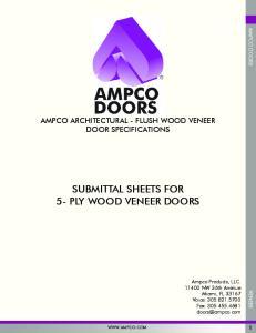 SUBMITTAL SHEETS FOR 5- PLY WOOD VENEER DOORS