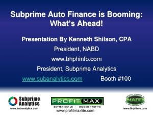 Subprime Auto Finance is Booming: What s Ahead!