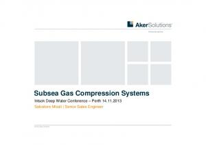 Subsea Gas Compression Systems