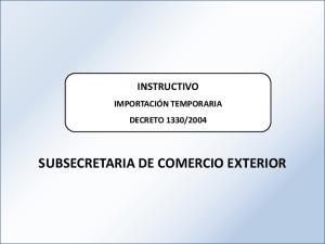 SUBSECRETARIA DE COMERCIO EXTERIOR