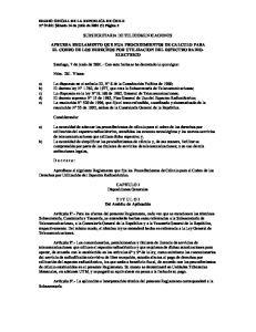 SUBSECRETARIA DE TELECOMUNICACIONES