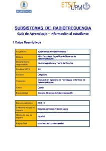 SUBSISTEMAS DE RADIOFRECUENCIA