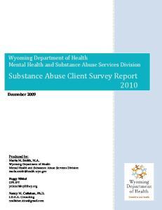 Substance Abuse Client Survey Report 2010