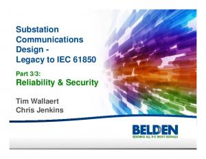 Substation Communications Design - Legacy to IEC 61850