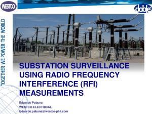 SUBSTATION SURVEILLANCE USING RADIO FREQUENCY INTERFERENCE (RFI) MEASUREMENTS. Eduardo Pabuna WESTCO ELECTRICAL
