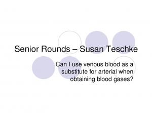 substitute for arterial when