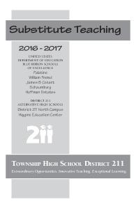 Substitute Teaching. Township High School District District 211 North Campus Higgins Education Center