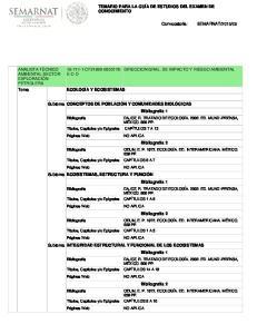Subtema INTEGRIDAD ESTRUCTURAL Y FUNCIONAL DE LOS ECOSISTEMAS