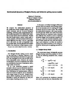 Subthreshold dynamics of Hodgkin-Huxley and Izhikevich spiking neuron models