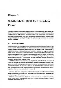 Subthreshold MOS for Ultra-Low Power
