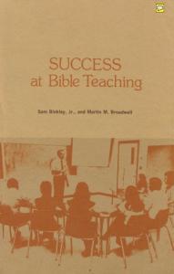 SUCCESS AT BIBLE TEACHING