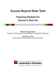 Success Beyond State Tests