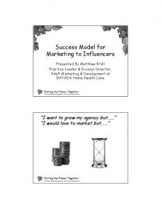 Success Model for Marketing to Influencers
