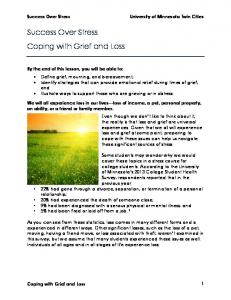 Success Over Stress Coping with Grief and Loss