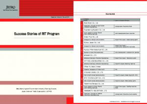 Success Stories of RIT Program