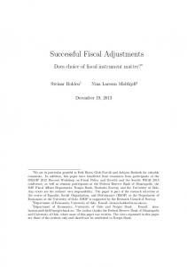 Successful Fiscal Adjustments