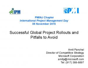 Successful Global Project Rollouts and Pitfalls to Avoid