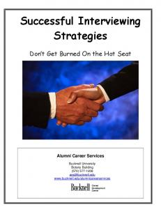 Successful Interviewing Strategies
