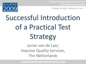Successful Introduction of a Practical Test Strategy