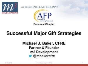 Successful Major Gift Strategies