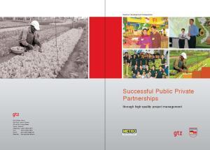 Successful Public Private Partnerships