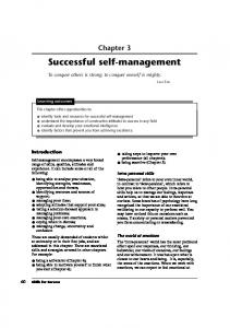 Successful self-management