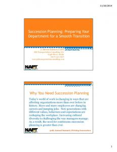 Succession Planning: Preparing Your Department for a Smooth Transition