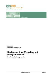 Suchmaschinen-Marketing mit Google Adwords