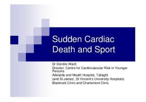 Sudden Cardiac Death and Sport