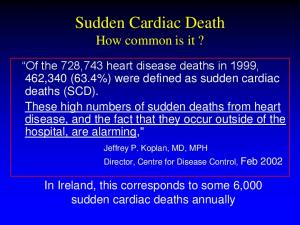 Sudden Cardiac Death How common is it?