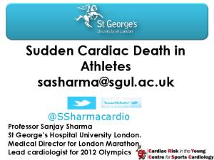Sudden Cardiac Death in Athletes