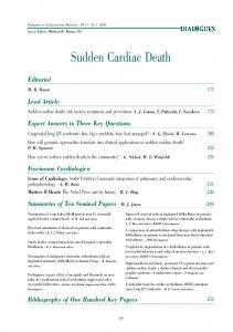 Sudden cardiac death: risk factors, treatment, and prevention - A. J. Camm, T. Pakrashi, I. Savelieva 175