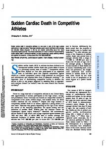 Sudden cardiac death (SCD) in athletes has been defined as an